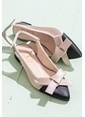 Elle Kısa Topuklu Ayakkabı Siyah